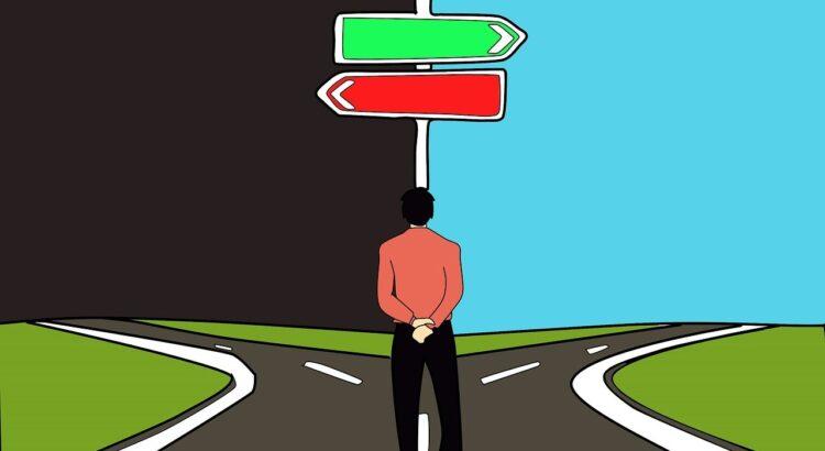Decision ahead concept